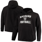 Oakland Raiders NFL Pro Line by Fanatics Branded Big & Tall Victory Arch Pullover Hoodie – Black