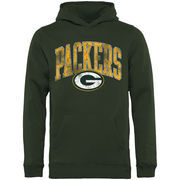 Green Bay Packers NFL Pro Line by Fanatics Branded Youth Showtime Wide Arch Pullover Hoodie - Green