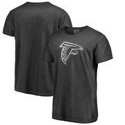 Atlanta Falcons NFL Pro Line by Fanatics Branded White Logo Shadow Washed T-Shirt - Black