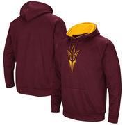 Arizona State Sun Devils Colosseum Big Logo Pullover Hoodie - Maroon