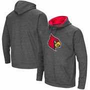 Louisville Cardinals Colosseum Big Logo Pullover Hoodie - Charcoal