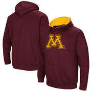 Minnesota Golden Gophers Colosseum Big Logo Pullover Hoodie - Maroon