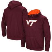 Virginia Tech Hokies Colosseum Big Logo Pullover Hoodie - Maroon