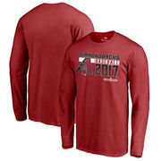 Arizona Diamondbacks Fanatics Branded 2017 Postseason Double Play Long Sleeve T-Shirt – Red