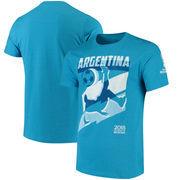 Argentina National Team Jagged Line T-Shirt – Heathered Blue