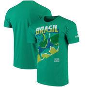 Brazil National Team Jagged Line T-Shirt – Heathered Kelly Green