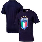 Italy National Team Puma Badge Logo T-Shirt – Navy