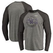 Colorado Rockies Fanatics Branded 2017 Postseason Changeup Tri-Blend Long Sleeve Raglan T-Shirt – Heather Gray