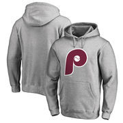 Philadelphia Phillies Fanatics Branded Cooperstown Collection Huntington Big & Tall Pullover Hoodie - Heathered Gray