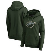 Minnesota Wild Fanatics Branded Women's Static Logo Pullover Hoodie - Green