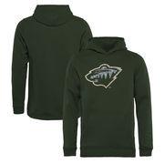 Minnesota Wild Fanatics Branded Youth Static Logo Pullover Hoodie - Green