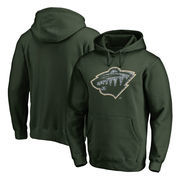 Minnesota Wild Fanatics Branded Static Logo Pullover Hoodie - Green