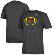 Arizona State Sun Devils adidas Sideline Pigskin Ultimate T-Shirt – Heathered Black