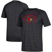 Louisville Cardinals adidas Sideline Pigskin Ultimate T-Shirt – Heathered Black