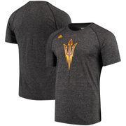 Arizona State Sun Devils adidas School Logo Ultimate Performance T-Shirt – Heathered Black