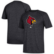 Louisville Cardinals adidas School Logo Ultimate Performance T-Shirt – Heathered Black