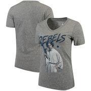 Dallas Cowboys Women's Leia Rebels Star Wars Tri-Blend V-Neck T-Shirt - Heathered Gray