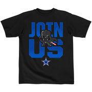 Dallas Cowboys Preschool Join Us Star Wars T-Shirt - Black