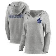 Toronto Maple Leafs Let Loose by RNL Women's Team Logo Fleece Tri-Blend Pullover Hoodie - Ash