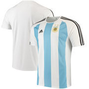 Argentina National Team adidas Home Fan climalite T-Shirt – White/Blue