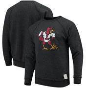 Louisville Cardinals Original Retro Brand School Logo Tri-Blend Pullover Sweatshirt – Heathered Black