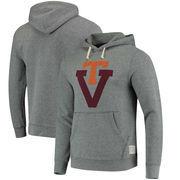Virginia Tech Hokies Original Retro Brand School Logo Tri-Blend Hoodie - Gray