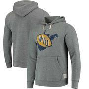 West Virginia Mountaineers Original Retro Brand School Logo Tri-Blend Hoodie - Gray