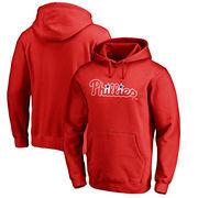 Philadelphia Phillies Fanatics Branded Wordmark Big and Tall Pullover Hoodie - Red