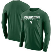 Michigan State Spartans Nike Center Line Hockey Long Sleeve T-Shirt – Green