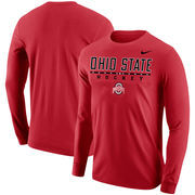 Ohio State Buckeyes Nike Center Line Hockey Long Sleeve T-Shirt – Scarlet