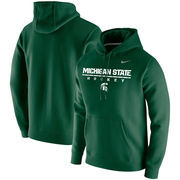 Michigan State Spartans Nike Center Line Hockey Pullover Hoodie - Green