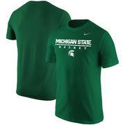 Michigan State Spartans Nike Center Line Hockey T-Shirt – Green