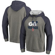 Boston Red Sox Fanatics Branded Disney Rally Cry Tri-Blend Raglan Pullover Hoodie - Ash