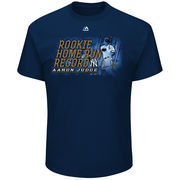 Men's Majestic Aaron Judge Navy New York Yankees Rookie Home Run Record Breaker T-Shirt