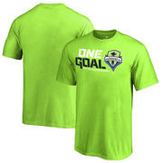 Seattle Sounders FC Fanatics Branded Youth 2017 MLS Cup Playoffs One Goal T-Shirt – Neon Green