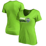 Seattle Sounders FC Fanatics Branded Women's 2017 MLS Cup Playoffs One Goal V-Neck T-Shirt – Neon Green