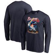 Atlanta Braves Fanatics Branded Disney All Star Long Sleeve T-Shirt - Navy