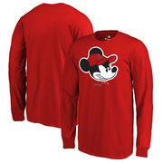 Los Angeles Angels Fanatics Branded Youth Disney Game Face Long Sleeve T-Shirt - Red