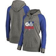 Chicago Cubs Fanatics Branded Women's Disney Rally Cry Tri-Blend Raglan Pullover Hoodie - Ash