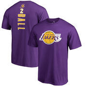 Lonzo Ball Los Angeles Lakers Fanatics Branded Backer Big & Tall T-Shirt - Purple