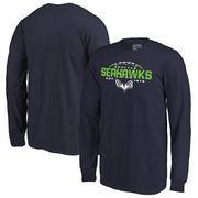 Seattle Seahawks NFL Pro Line by Fanatics Branded Youth Alternate Team Logo Gear Flea Flicker Long Sleeve T-Shirt - College Navy