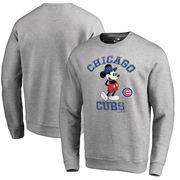 Chicago Cubs Fanatics Branded Disney MLB Tradition Pullover Sweatshirt - Heathered Gray