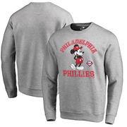 Philadelphia Phillies Fanatics Branded Disney MLB Tradition Pullover Sweatshirt - Heathered Gray