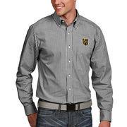 Vegas Golden Knights Antigua Associate Woven Button-Down Long Sleeve Shirt - Black