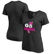 St. Louis Cardinals Fanatics Branded Women's Disney Rally Cry Minnie T-Shirt - Black