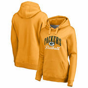 Green Bay Packers NFL Pro Line by Fanatics Branded Women's Victory Script Pullover Hoodie – Gold