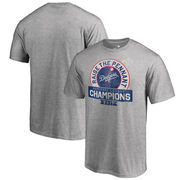 Los Angeles Dodgers Fanatics Branded 2017 National League Champions Fly Ball Big & Tall T-Shirt - Heather Gray
