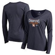 Houston Astros Fanatics Branded Women's 2017 American League Champions Homer Long Sleeve T-Shirt - Navy