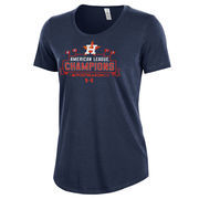 Houston Astros Under Armour Women's 2017 American League Champions Charged Cotton T-Shirt - Navy