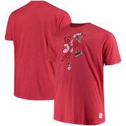 Louisville Cardinals Original Retro Brand Big & Tall Mock Twist T-Shirt - Red